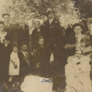 Ángel Caballero coa familia