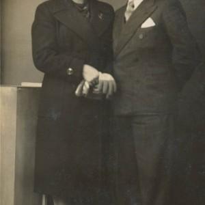 Retrato de Claudio Caballero e Esperanza Estévez