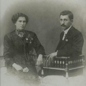 Retrato de Carlos Vaqueiro Martínez e a súa dona Asunción.