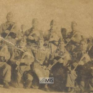 Banda de Gaitas no servizo militar en Ferrol.