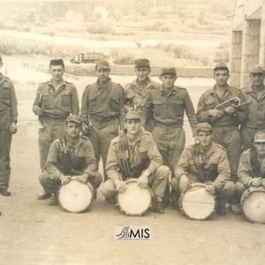 Banda Militar de infantería no Cuartel de Barreiro en Vigo