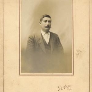 Retrato de José Fernández Vaqueiro, Secretario da Federación Municipal de Salceda