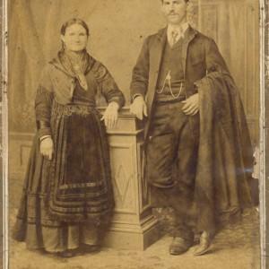 Retrato de voda de Ramón Álvarez Troncoso e María García Pérez (1889)