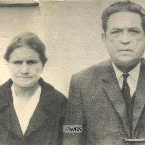 Retrato do mestre de Soutelo Alfredo Gándara Alonso e a súa dona Otilia Fernández