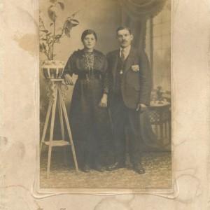 Retrato de Evaristo Rodríguez e a súa dona Peregrina Pérez