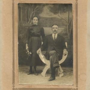 Retrato de Antonio Groba e a súa muller Francisca Cabaleiro