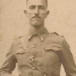 Retrato de Manuel Valcarcel Ozores no servizo militar