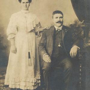 Retrato do comerciante e Concelleiro Joaquín Alonso e a súa dona, María Piedra.