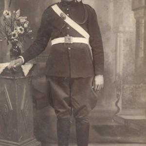 José Pérez Fandiño de militar.