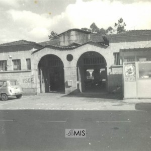 Fotografía da antiga Praza de Abastos de Salceda.